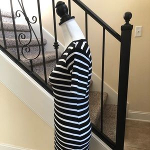 Black and White Striped Dress XS